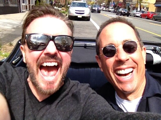 comedians in cars getting coffee ricky gervais and jerry seinfeld rh pinterest com