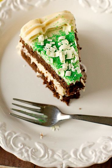 St. Patrick's Day: Chocolate Stout Cake with Baileys Irish Cream Cheese Frosting