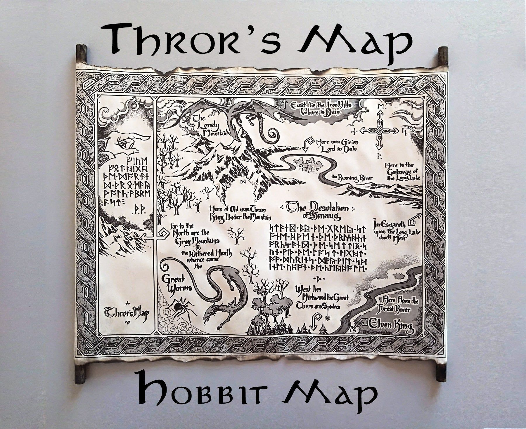 Thror S Map The Hobbit Map Thrain Elrond Map Thorin S Map