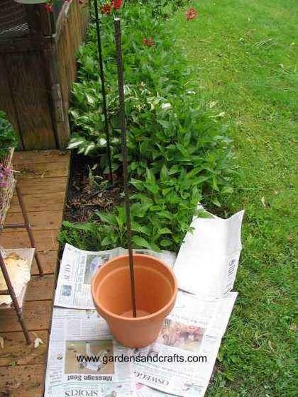 passo a passo com fotos de como fazer uma torre de vasos