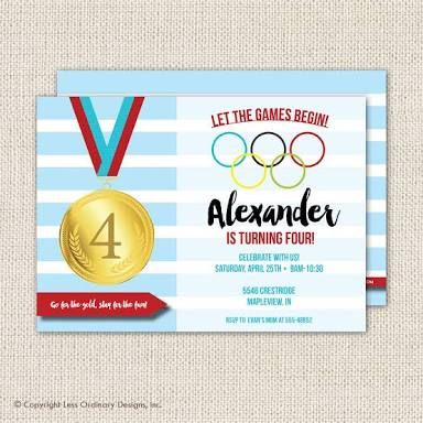 Image Result For Free Kids Olympics Party Invite