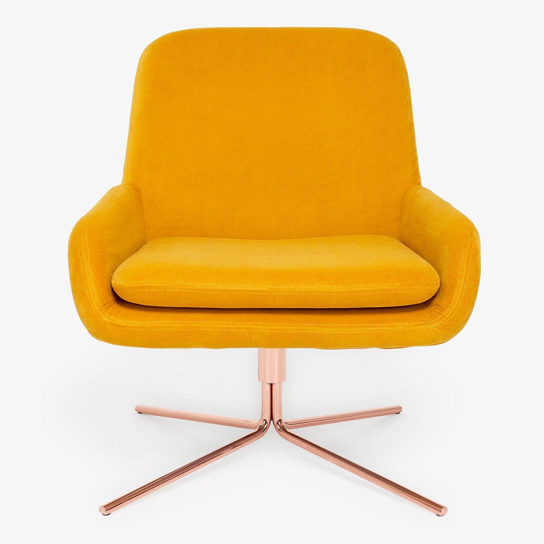 softline swivel square chair yellow living room pinterest mid