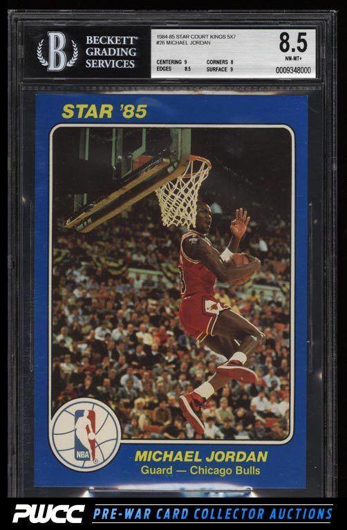 1984 Star Court Kings 5x7 Michael Jordan ROOKIE RC 26 BGS 85 NM MT PWCC Rookie Pwcc
