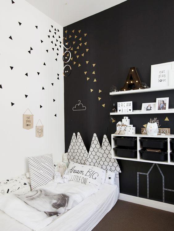 Belle #chambre pour #enfant en #noir et #blanc !   wwwm