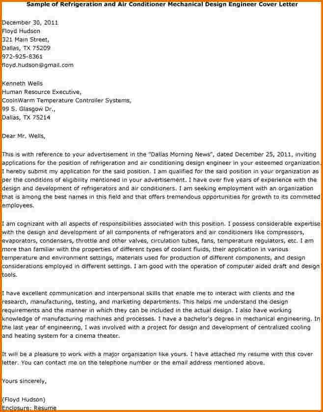 Mechanical engineer cover letter for cv Cover letters, CV - mechanical engineering job description