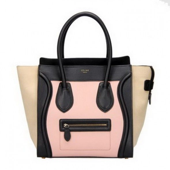 ece1b9d4c0c2 Celine Luggage Mini Boston Tote Bag Ferrari Leather Pink - CELINE ...