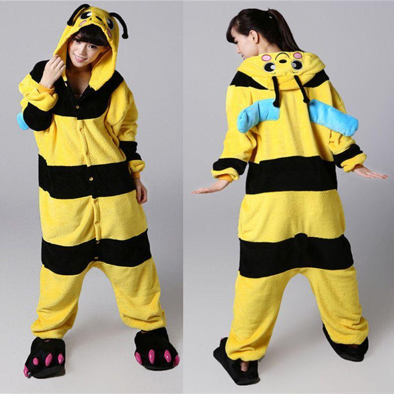 Cosplay bee onesie pajamas jumpsuit hoodies adults