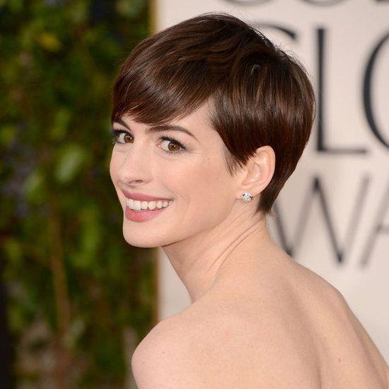 Hathaway hair celebrity short hair Pinterest Cortes pixie