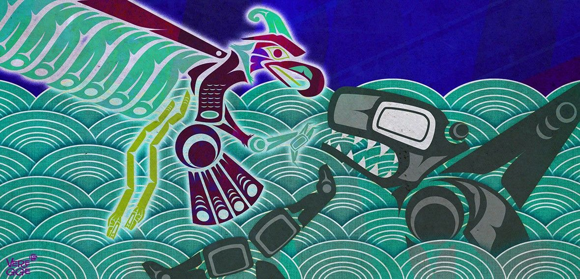 Native Americans Terrifying Tsunami Stories Show What The Pacific Northwest Has To Fear Native American Myths Pacific Northwest Art Pacific Northwest