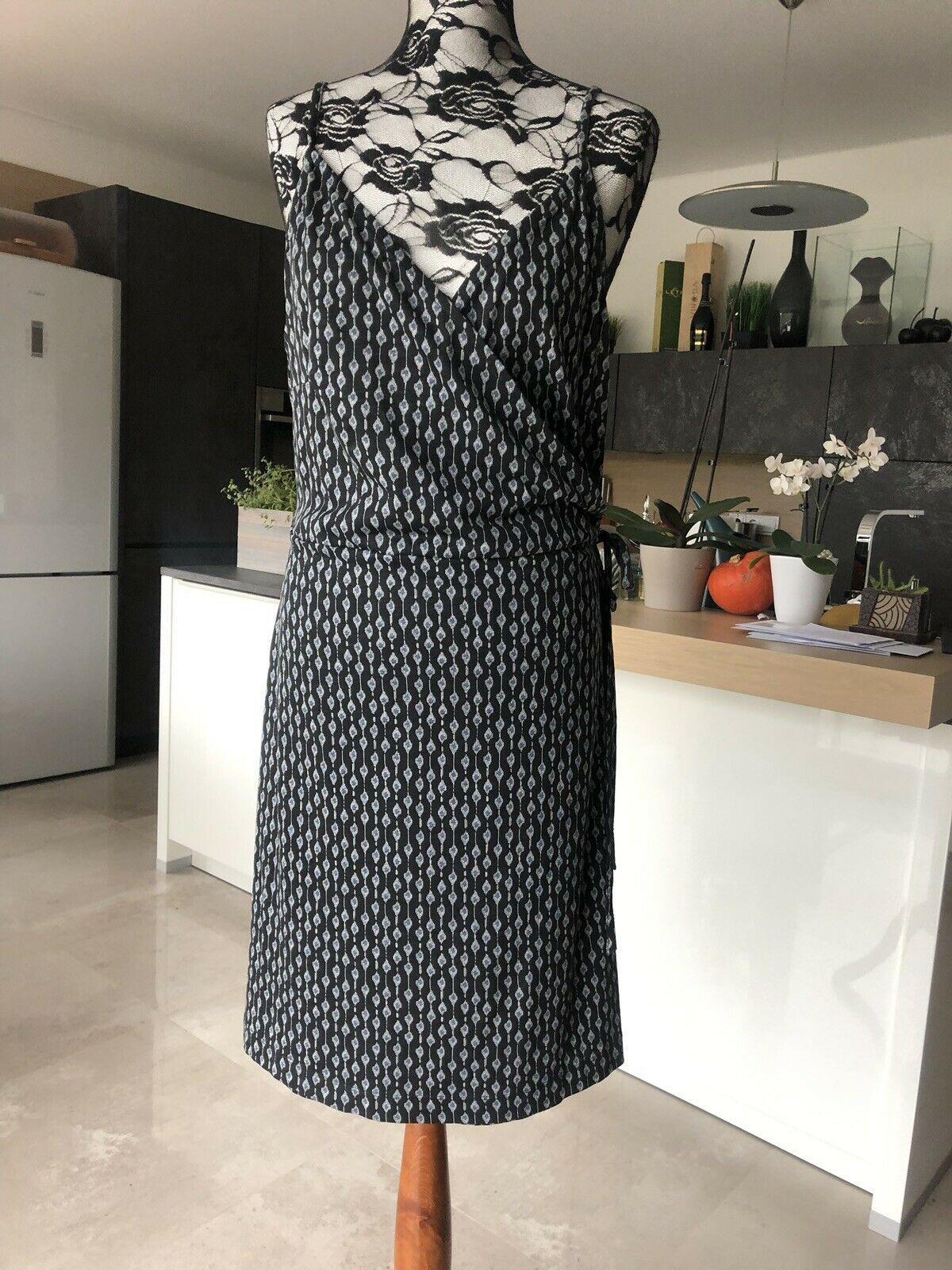 18 bis 18 Schwarz NEU 18 Sheeg18 Wickelkleid Kleid Anna Scholz Gr