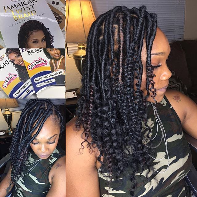 Goddess Locs on this beauty! 3 bags of Jamaican Twist Braid