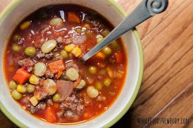 Whole Foods...New Body!: {Crock Pot Vegetable Beef Soup}
