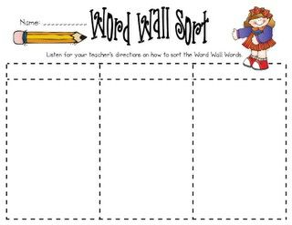 Word Wall Sort Could Be Done By Beginning Ending Letters Vowels Categories Etc 3rd Grade Words Education And Literacy Word Families