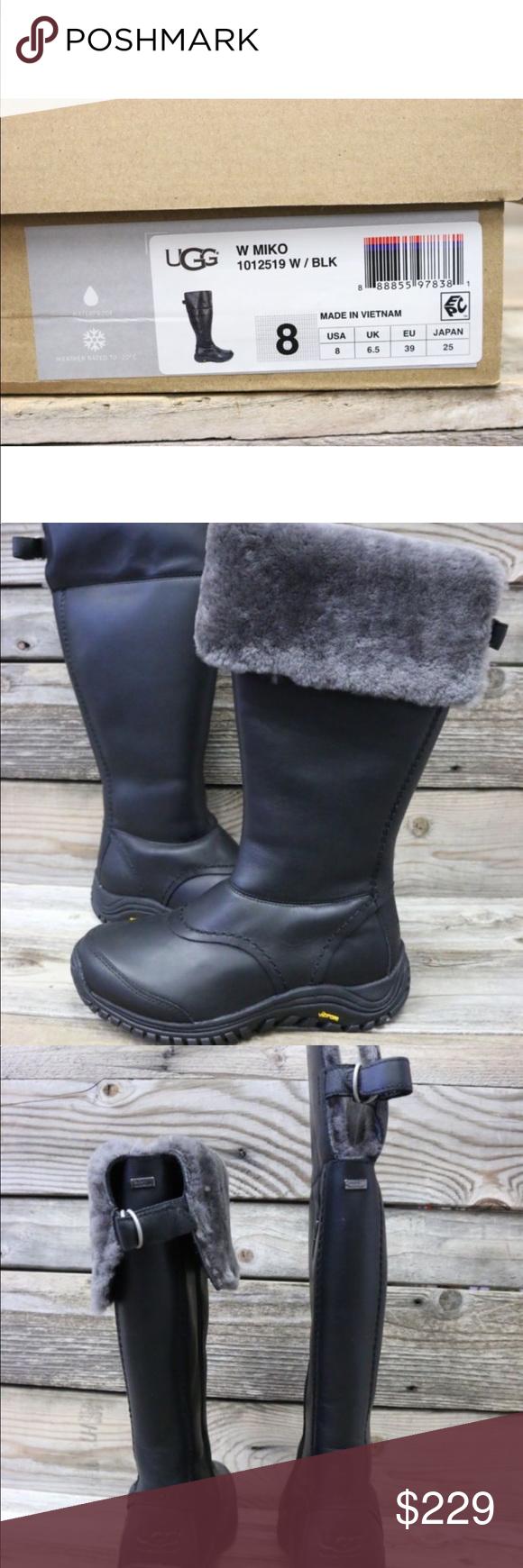 aa7b43e45eb UGG Shoes   Ugg Miko Black Grey Snow Rain Waterproof Boots New ...