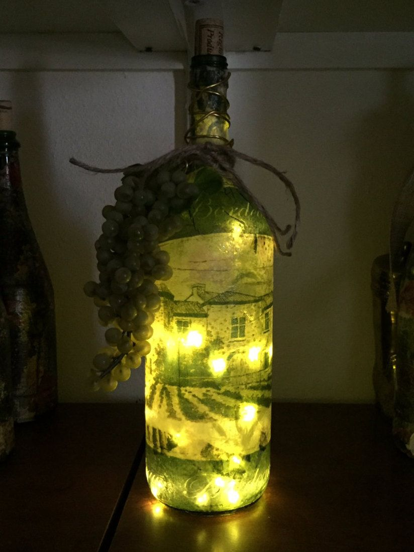 Decorative Wine Bottle Light W Led Battery Operated Lights