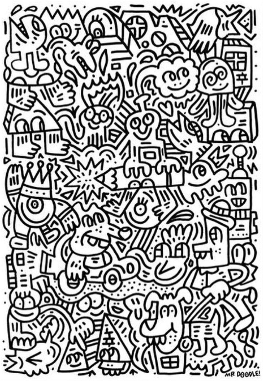 Random Full Page Doodle Mr Doodle Doodle Break In 2019