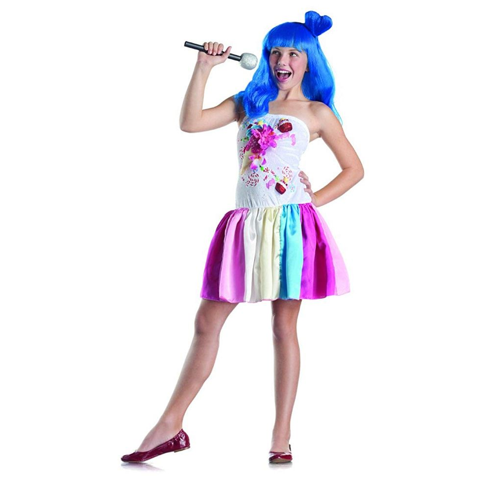 Color Latex Bodice with Dress Smiffy/'s Women/'s Candy Queen Costume Size: S