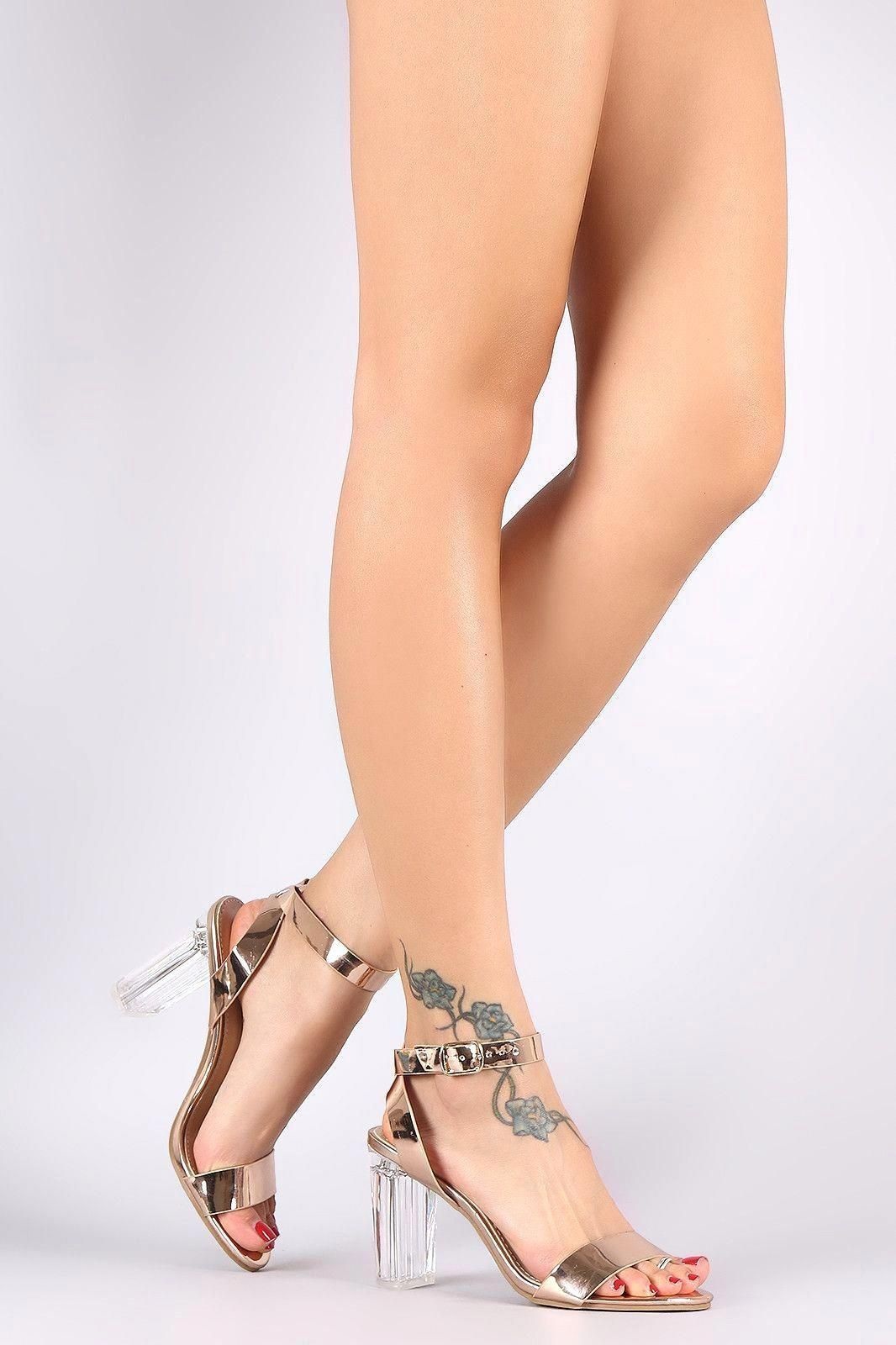 Details about  /Womens High Stiletto Heel Shoes Cut Out Slingbacks Buckle Strap Platform Stylish