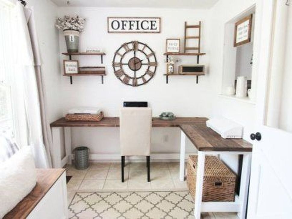 99 Unique Diy Home Office Decor Ideas Home Office Decor Farmhouse Office Decor Home Office Design
