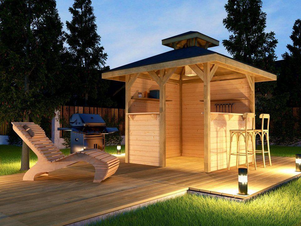 Weka Pavillon Gartenoase Set Bxt 294x294 Cm Inkl Brustung Online Kaufen Otto Pavillon Karibu Gartenhaus Grill Pavillon