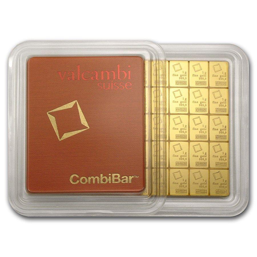 50x 1 Gram Gold Combibar Valcambi In Assay Gold Bullion Bars Gold Bullion Gold