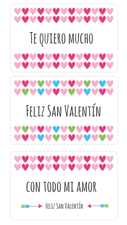 Tarjetas de San Valentin para imprimir | Tarjetas de san valentín ...