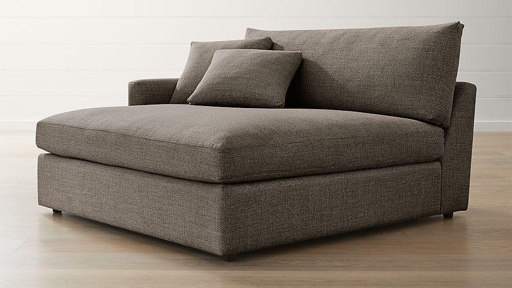 lounge ii petite left arm double chaise arms crates and barrels rh pinterest com