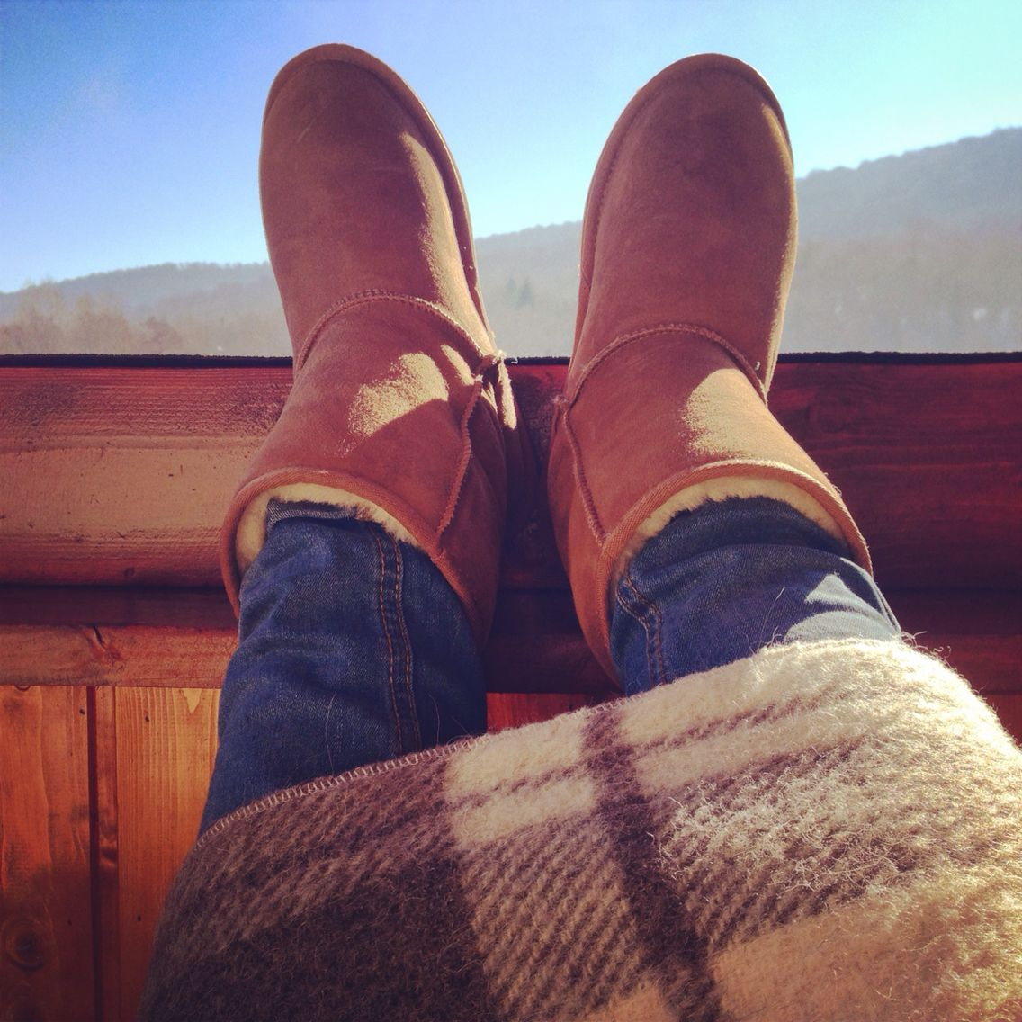 Cozy Camel Emu boots | winter style