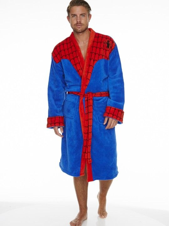 d83e621aad0e0 Marvel Spider-Man Adult Fleece Bathrobe | Comics | Robe, Marvel ...