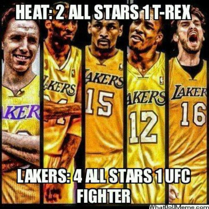Lakers 4 All Stars 1 Ufc Fighter Lakers Team Lakers Basketball Lakers