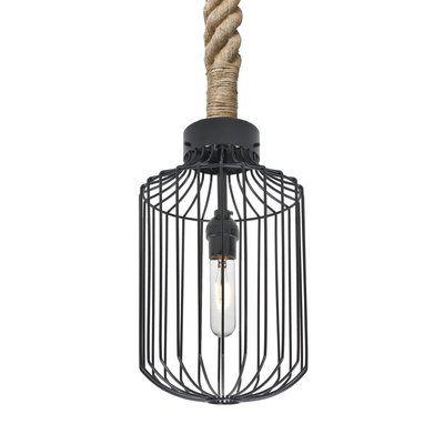 Wrought Studio Mandurah 1 Light Lantern Geometric Pendant