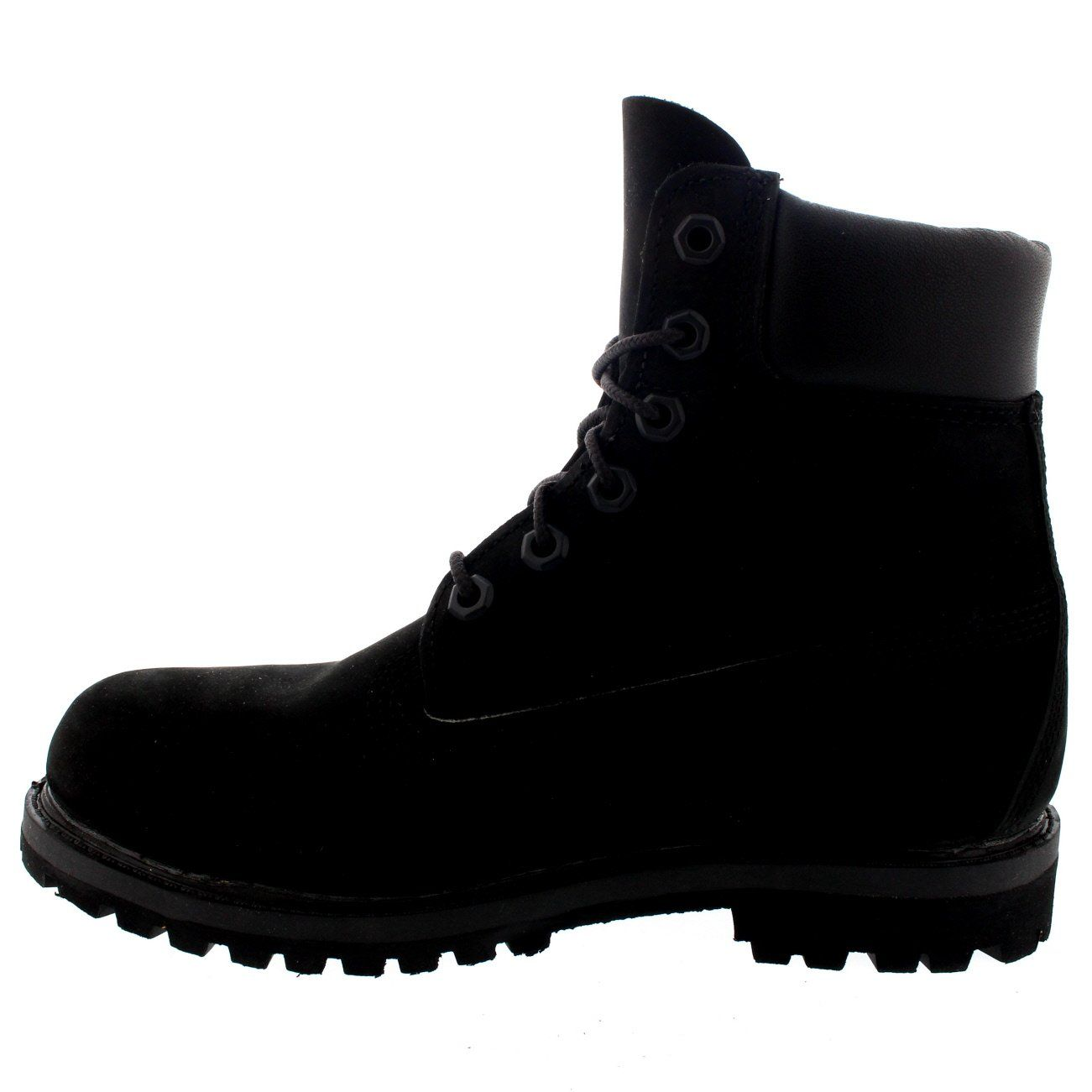 Womens Timberland 6 Inch Premium Suede Black Lace Up Ankle