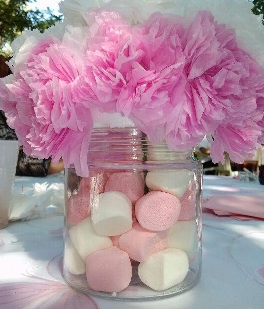 Nuevos adornos de mesa para bautizo hermosos dise os for Arboles florales para jardin