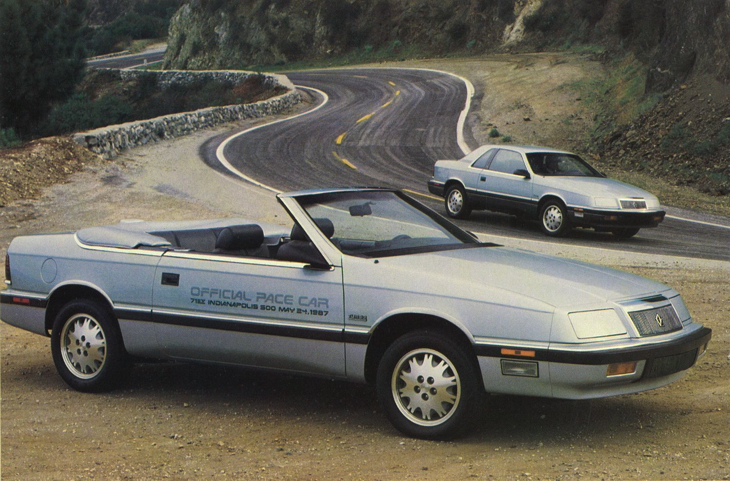 Pace Setter 1987 Chrysler LeBaron Coupe and Convertible