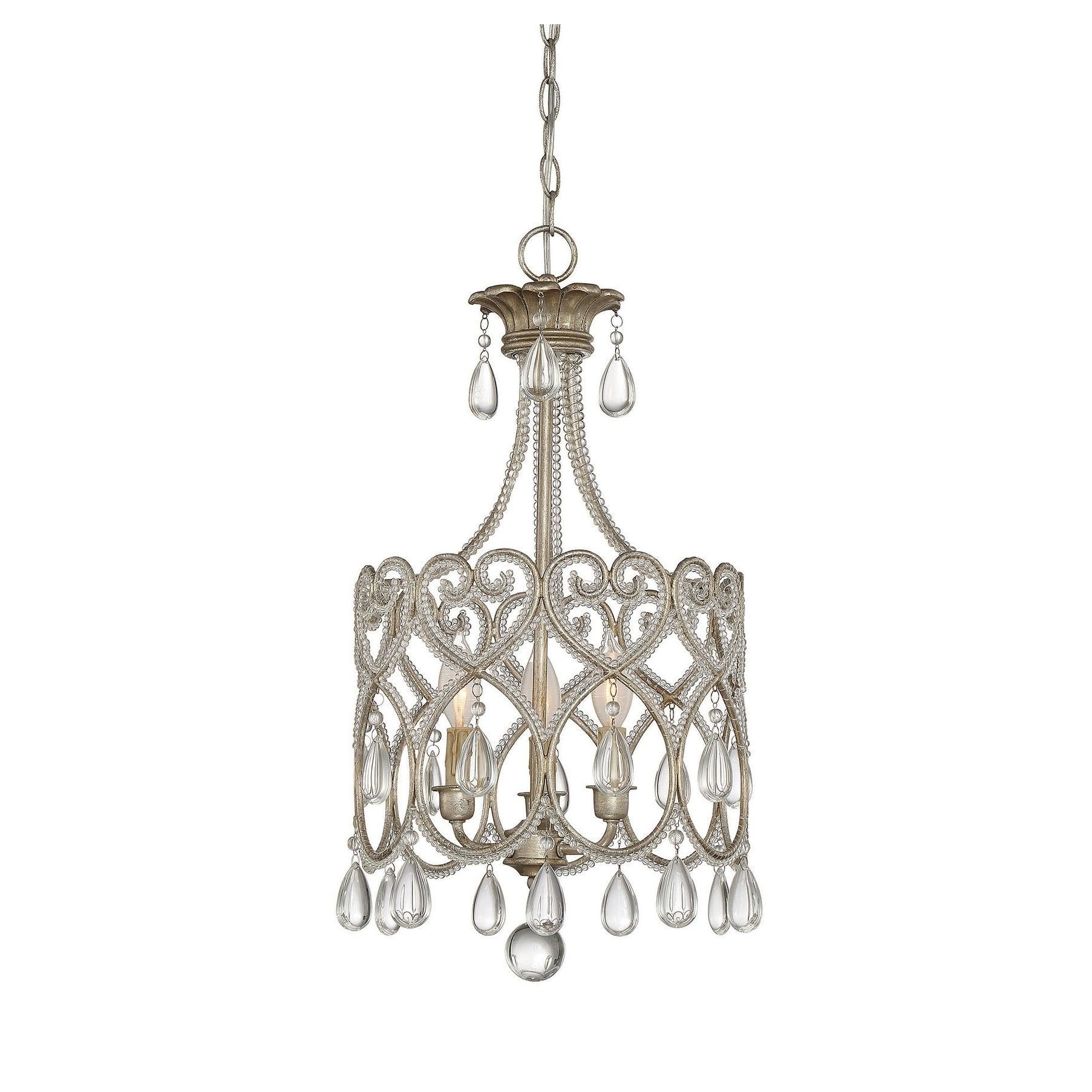 Savoy house argentum light mini chandelier metal products in