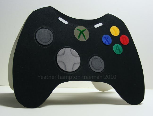 video game controller card  cardstock crafts birthday