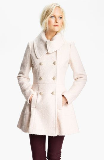 f6053e586d87e GUESS Asymmetrical Collar Bouclé Coat --my new coat  ) LOVE (has a cute bow  in the back)
