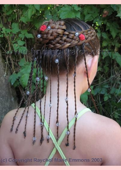 Seven Strands Braided With Beads Braids With Beads Rope Braids Fancy Hairstyles