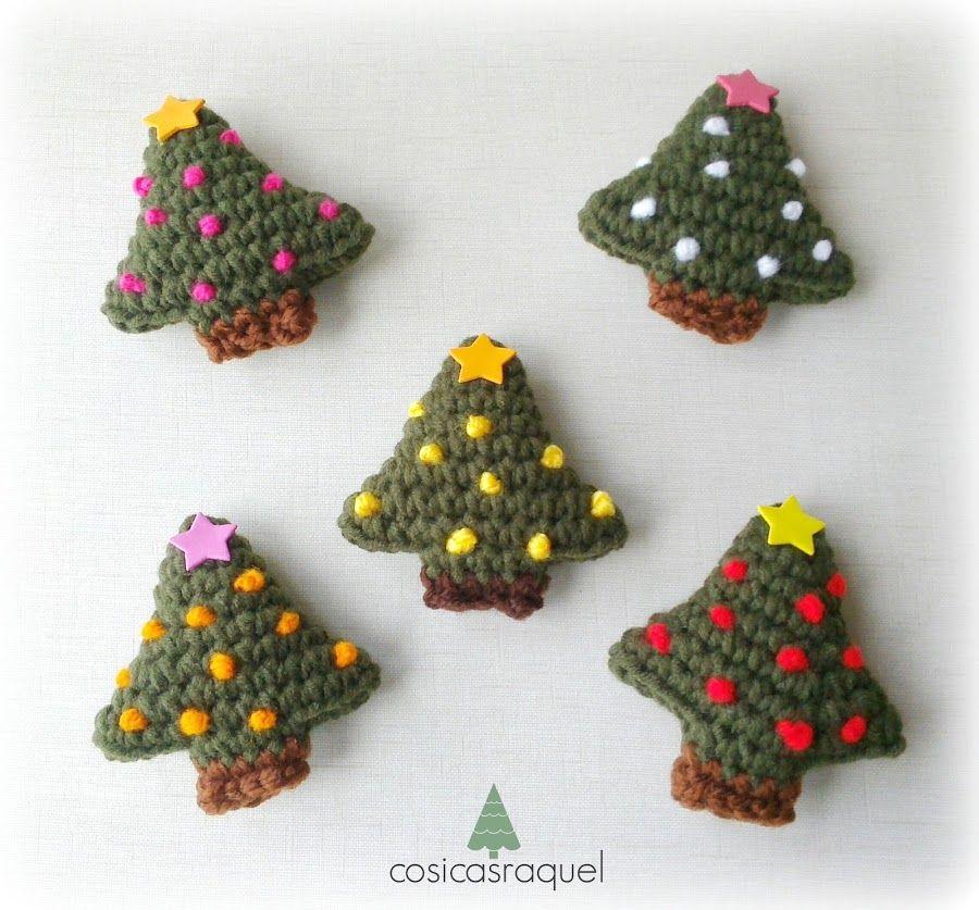 Imn de rbol de Navidad a crochet Pinterest Imanes rboles de