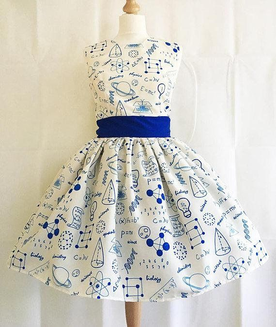 Science Dress,Physics Dress, Science Print, Scienc