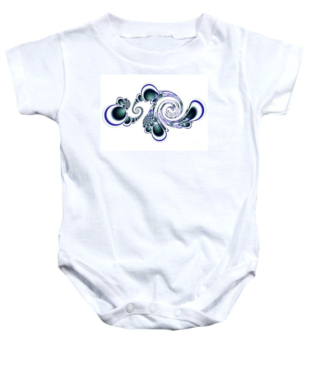 Doodle Baby Onesie featuring the digital art Doodle 3 by Kimberly Hansen