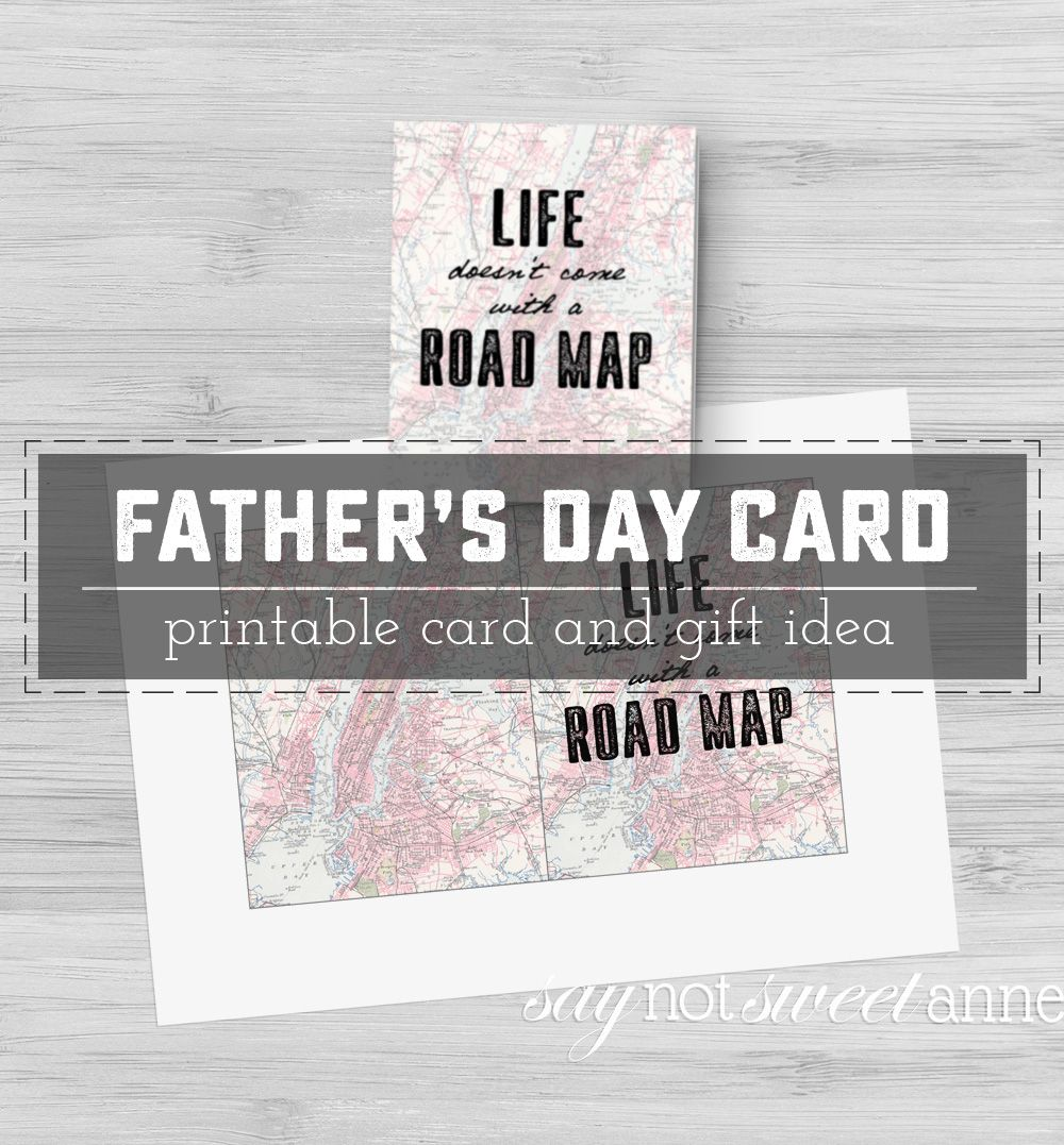 Printable Father's Day Card and Gift Idea