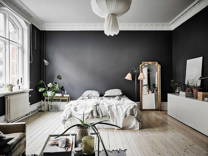 Home Interior Inspiration Charcoal Walls Dark Gray