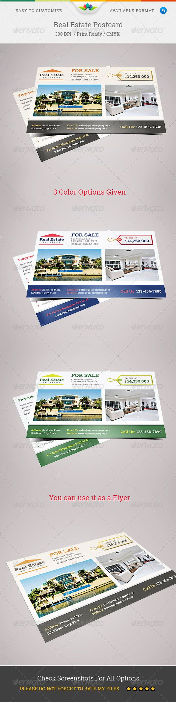 Real Estate Postcard | Stationery printing, Real estate and Print ...