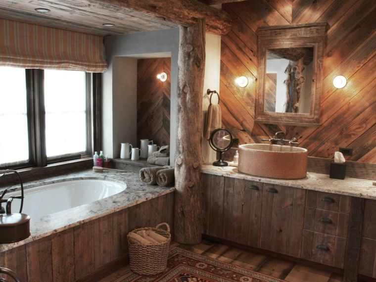 Salle de bain rustique, contemporaine et tendance | Salles ...