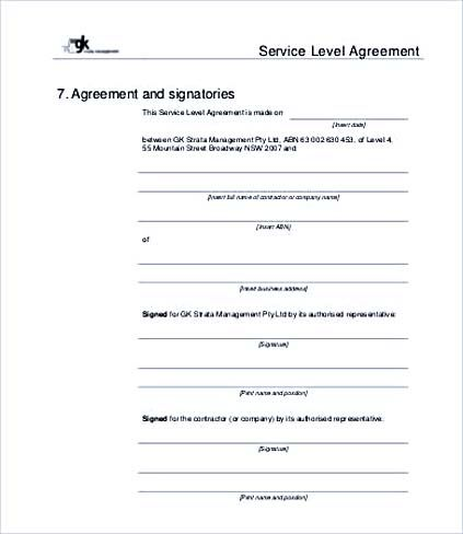 Pin By Joko On Agreement Template Pinterest Service Level