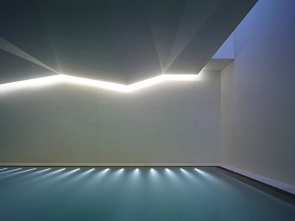 Minimal Design And Indirect Subtle Lighting Indoor Pool