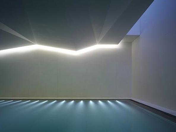 Minimal Design And Indirect Subtle Lighting Indoor Pool In