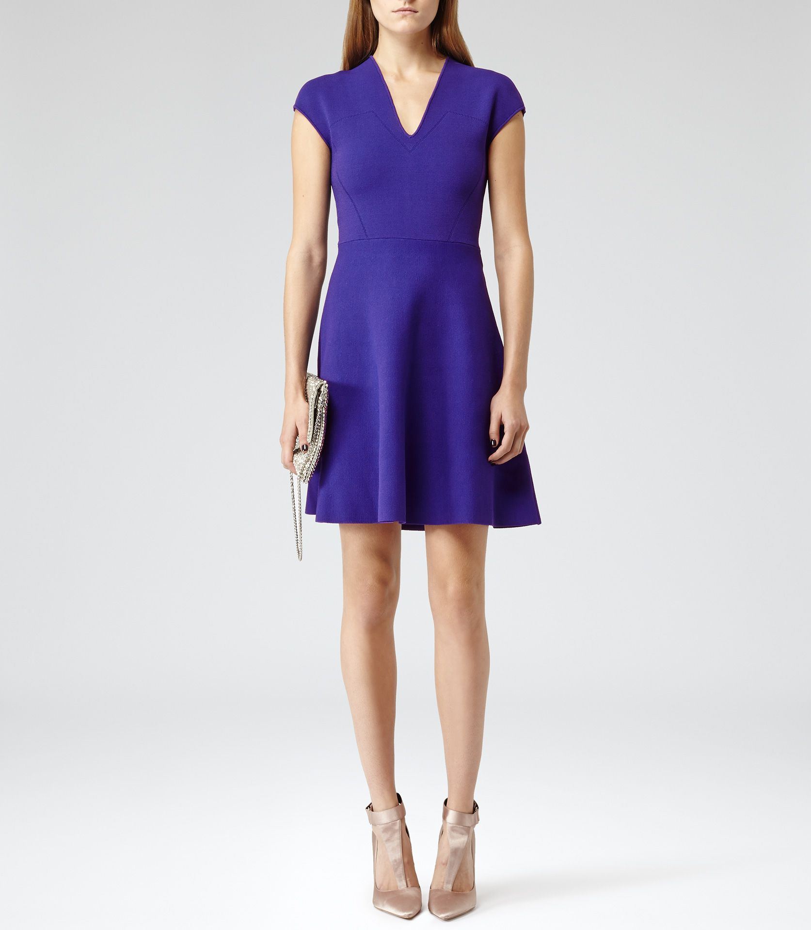 Blue Passion Fit And Flare Dress - Reiss   My Style   Pinterest