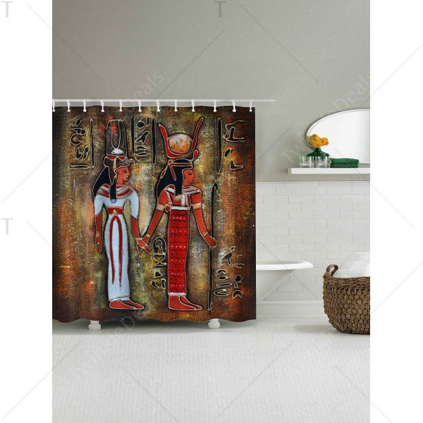 Ancient Egypt Painting Waterproof Shower Curtain Colormix